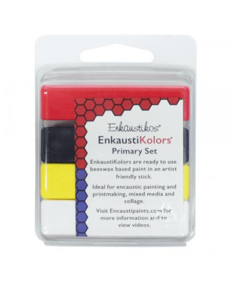 Kit Encaustica Cores Primarias 4 Cores Enk4503 Enkaustikos