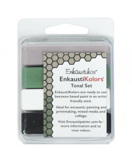 Kit Encaustica 4 Cores Tonais Enk4145 Enkaustikos