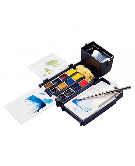 Aquarela Winsor & Newton Profissional Field Box 12 Cores