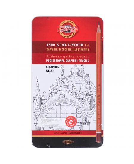 Estojo de Lápis Graduado Koh-I-Noor 1502 III Graphic