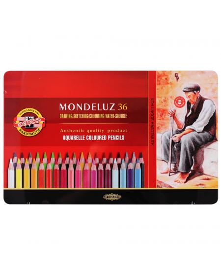 Lápis Aquarelável Mondeluz 36 Cores 3725