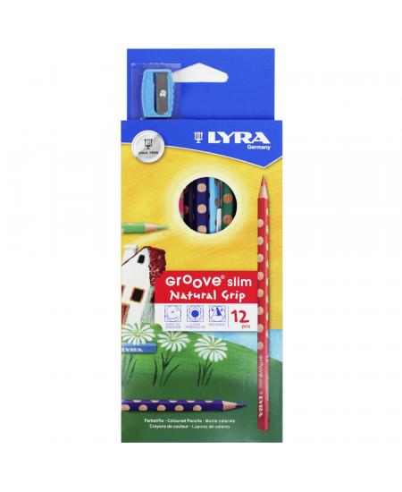 Lápis de Cor Groove Slim Lyra 12 Cores