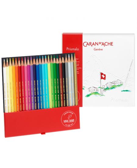 Lápis Aquarelado Caran D'Ache Prismalo 25 Cores Edição 100 Anos