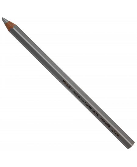 Lápis Jumbo Caran D'Ache Metálico Prata