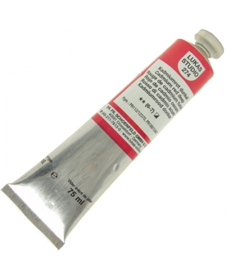 Tinta a Óleo Lukas Studio 75ml 274 Cadmium Red Deep