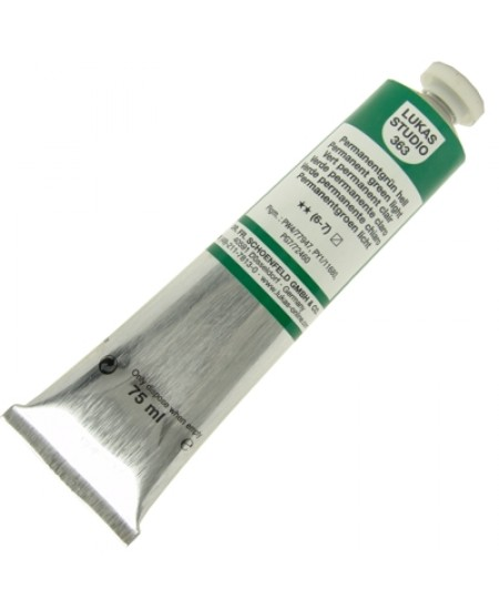 Tinta a Óleo Lukas Studio 75ml 363 Permanent Green