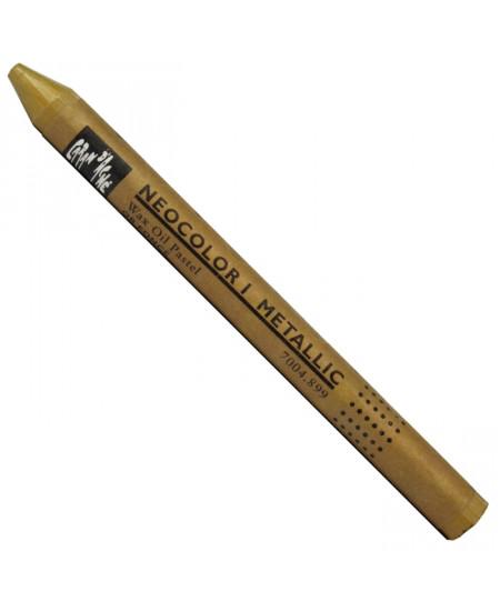 Pastel Neocolor I Caran D'Ache 899 Metallic Dark Gold
