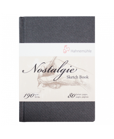 Bloco Papel Sketchbook Nostalgie Hahnemühle A4 Retrato