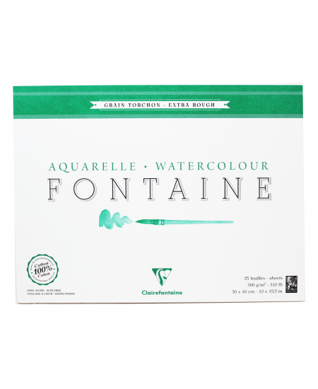 Papel Para Aquarela Fontaine Torchon 30x40cm 300g Clairefontaine