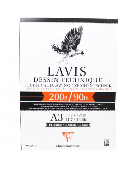 Papel Para Desenho Técnico Lavis A3 Clairefontaine