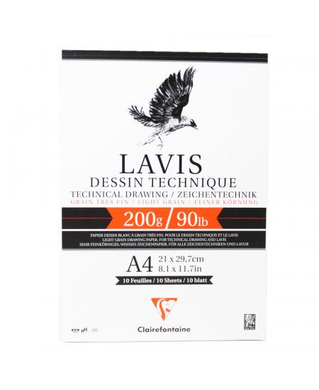 Papel Para Desenho Técnico Lavis A4 Clairefontaine
