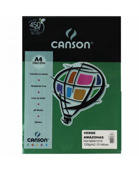 Papel Canson Vivaldi A4 120g/m² 15 Folhas Verde Amazonas