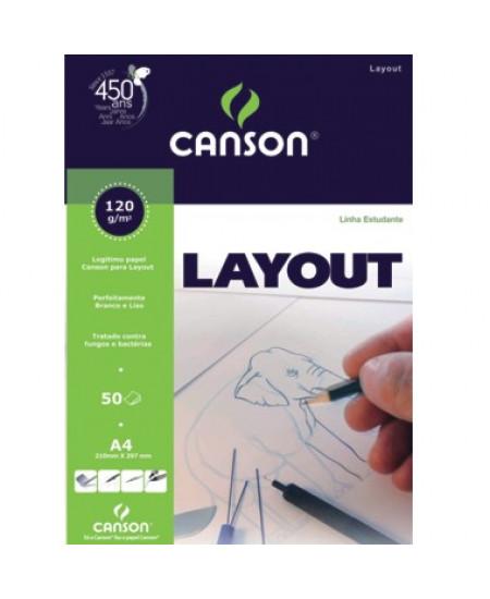 Bloco de Papel Layout Canson 120g/m²  A4