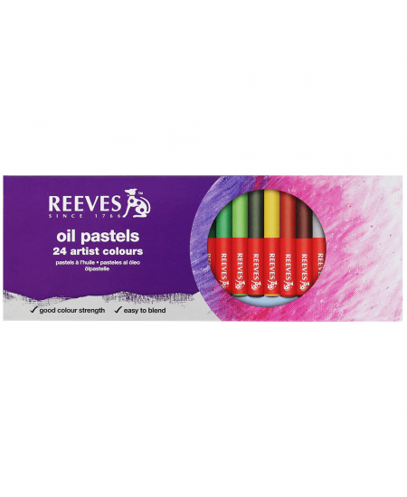 Pastel Oleoso Artístico Reeves 24 Cores