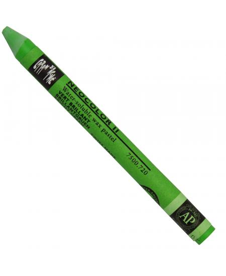 Giz Aquarelável Neocolor II Caran D'Ache 720 Bright Green