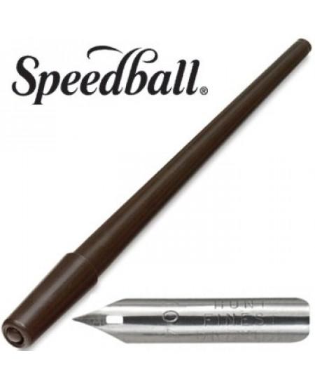 Pena  de Caligrafia Speedball 104 com Cabo