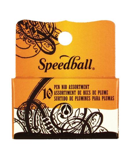 Kit composto pelas 10 penas de caligrafia mais utilizadas no mundo todo. A incomparável qualidade das penas Speedball reunidas em um único conjunto ideal para calígrafos. Kit composto pelas seguintes Penas: A-5 A-2 B-5 B-4 B-3 B-1 B-0 C-5 C-3 C-1 Um sorti