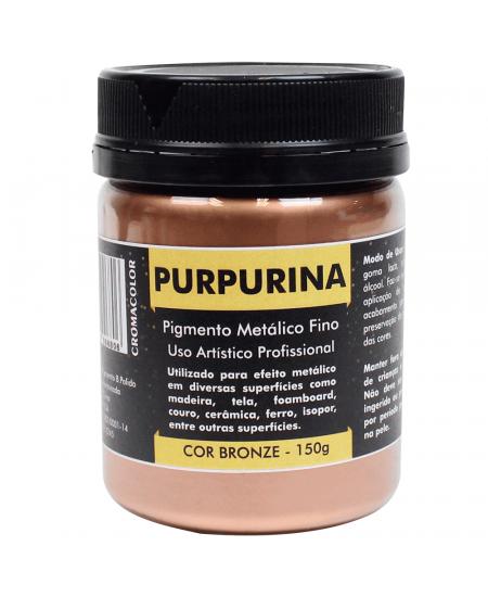 Purpurina em Pó Bronze 150g Cromacolor