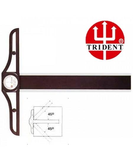 Régua T  100cm com Transferidor Trident 5810 - Cabeçote Móvel