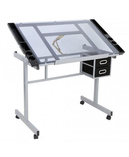 Mesa Para Desenho em Vidro Sinoart Glass