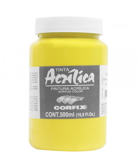 Tinta Acrílica Corfix 500ml  50 Amarelo Claro