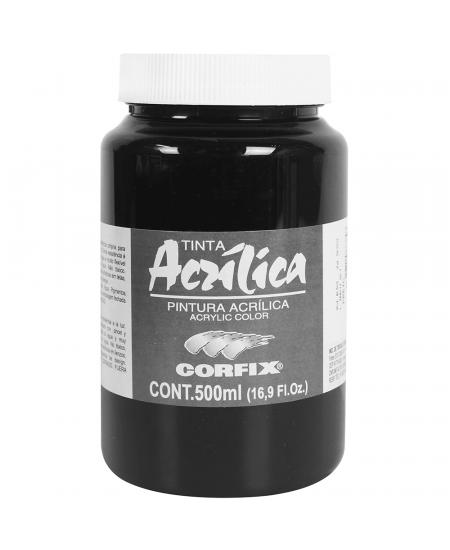 Tinta Acrílica Corfix 500ml 65 Preto