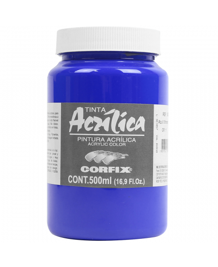 Tinta Acrílica Corfix 500ml  68 Azul Ultramar