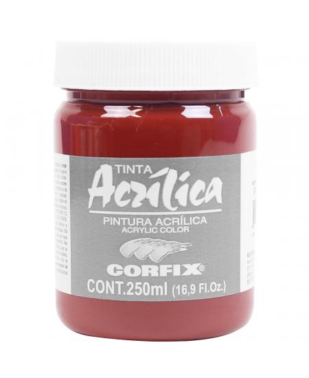 Tinta Acrílica Corfix 250ml 113 Vermelho Óxido Transparente G2
