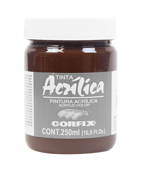 Tinta Acrílica Corfix 250ml 118 Sépia G1