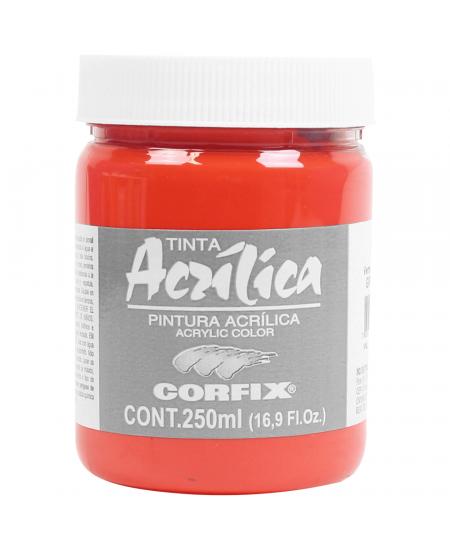Tinta Acrílica Corfix 250ml 128 Vermelho Cad Claro G1