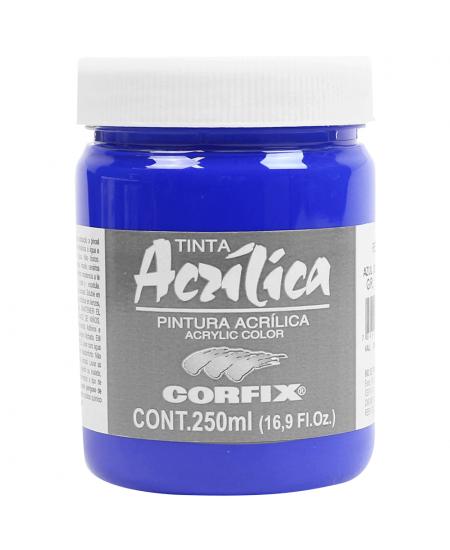 Tinta Acrílica Corfix 250ml  68 Azul Ultramar G1
