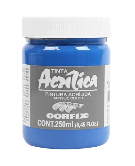 Tinta Acrílica Corfix 250ml  85 Azul Cerúleo G1