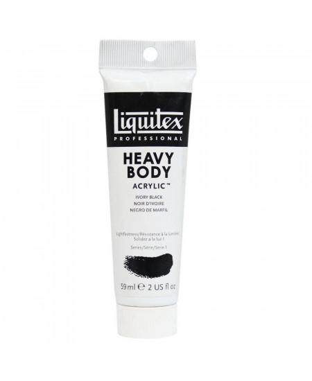 Tinta Acrílica Liquitex Heavy Body 244 Ivory Black 59ml