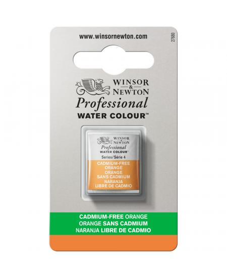 Tinta Aquarela Profissional Winsor & Newton Pastilha S4 899 Cadmium-Free Orange