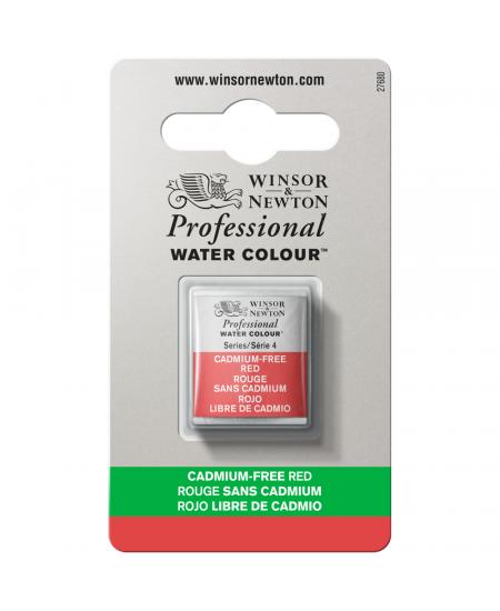 Tinta Aquarela Profissional Winsor & Newton Pastilha S4 901 Cadmium-Free Red