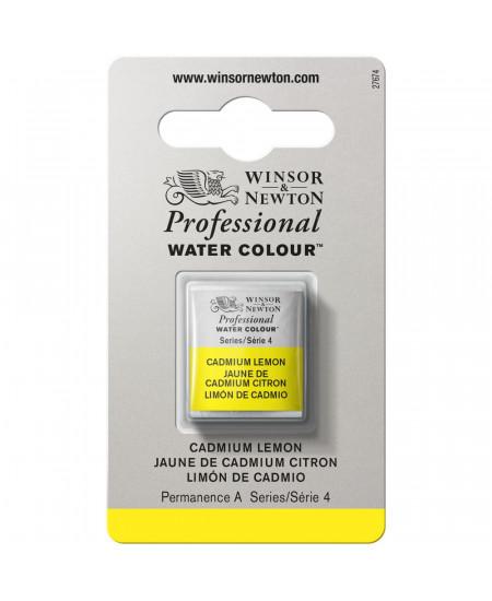 Tinta Aquarela Profissional Winsor & Newton Pastilha S4 086 Cadmium Lemon