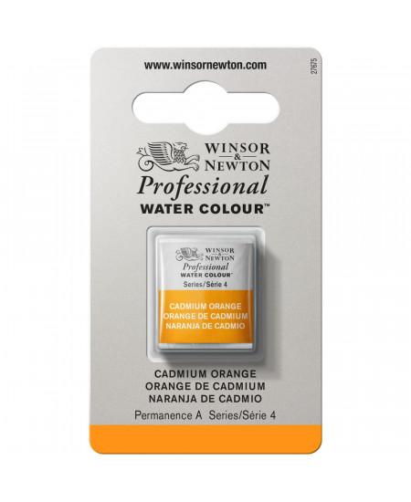 Tinta Aquarela Profissional Winsor & Newton Pastilha S4 089 Cadmium Orange