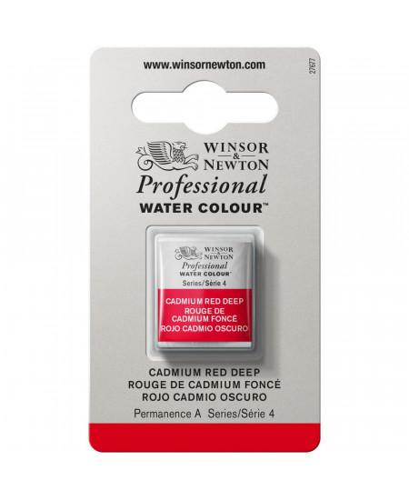 Tinta Aquarela Profissional Winsor & Newton Pastilha S4 097 Cadmium Red Deep