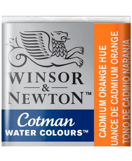 Aquarela Cotman W&N Pastilha 090 Cadmium Orange Hue