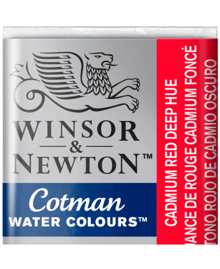 Aquarela Cotman W&N Pastilha 098 Cadmium Red Deep Hue