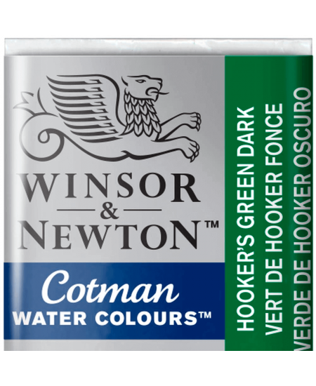 Aquarela Cotman W&N Pastilha 312 Hooker's Green Dark