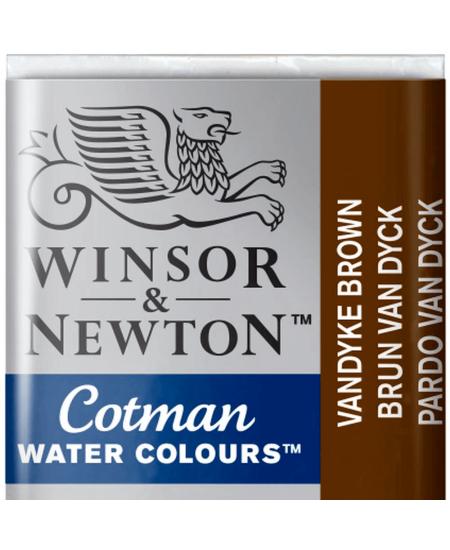 Aquarela Cotman W&N Pastilha 676 Vandyke Brown