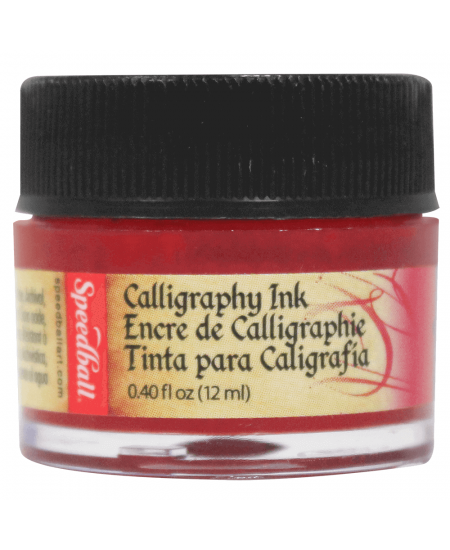 Tinta Para Caligrafia 12ml Speedball 3101 Vermelho Escarlate