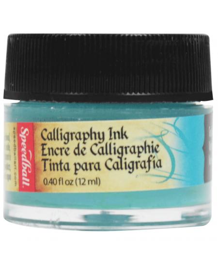 Tinta Para Caligrafia 12ml Speedball 3106 Verde Azulado