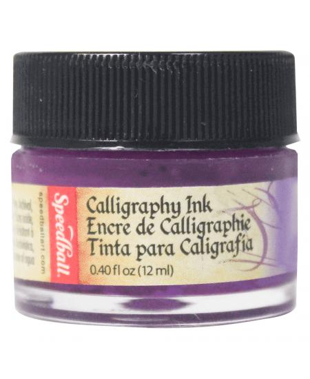 Tinta Para Caligrafia 12ml Speedball 3108 Violeta Intenso