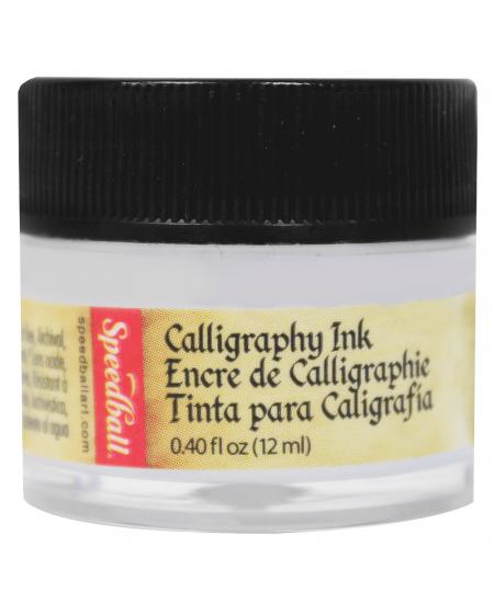 Tinta Para Caligrafia 12ml Speedball 3110 Branca