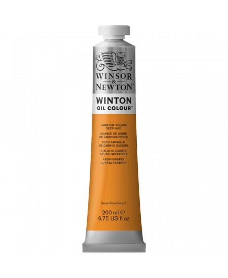 Tinta Óleo Winton 200ml Winsor & Newton 115 Cadmium Yellow Deep Hue