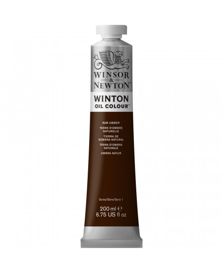 Tinta Óleo Winton 200ml Winsor & Newton 554 Raw Umber