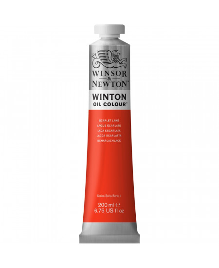 Tinta Óleo Winton 200ml Winsor & Newton 303 Scarlet Lake
