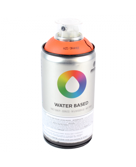 Tinta Spray Multiuso Water Based Azo Orange